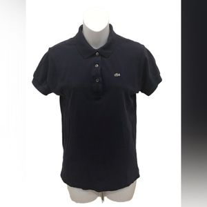 Lacoste Womens Navy Blue Short Sleeve Polo Shirt